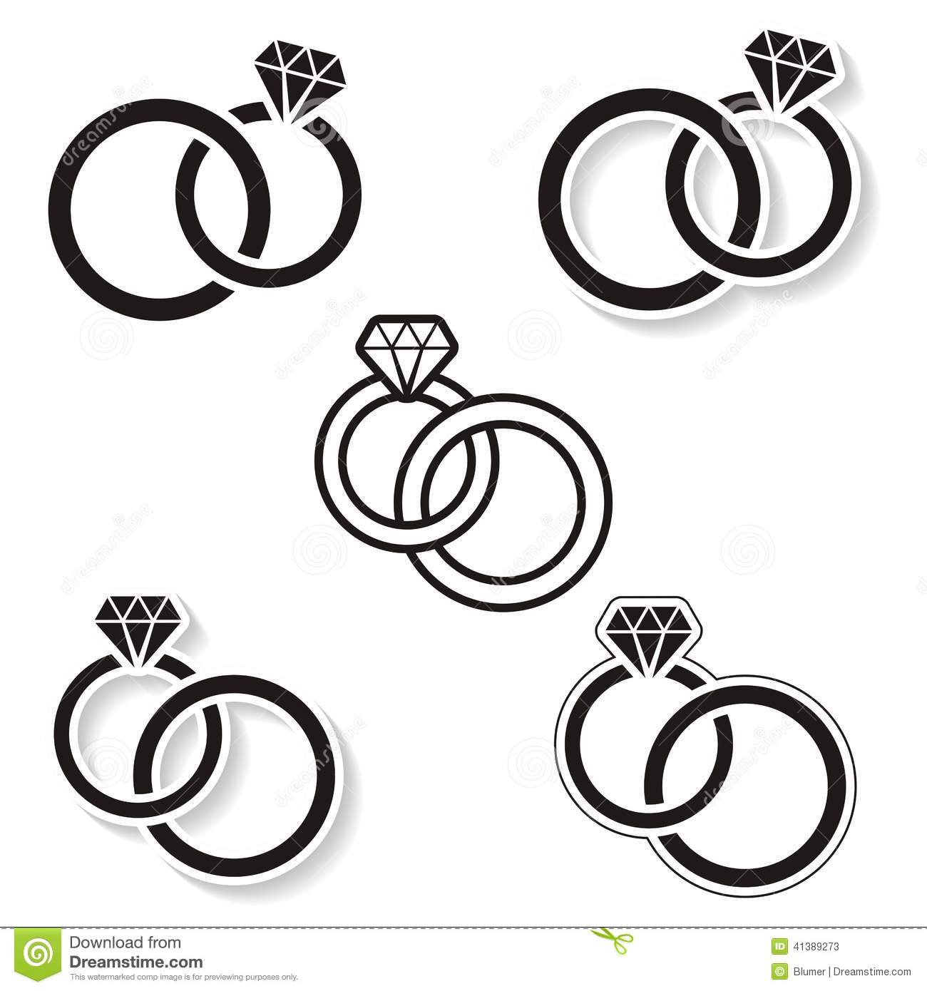 Wedding rings stock illustration illustration of love 41389273 download comp altavistaventures Image collections