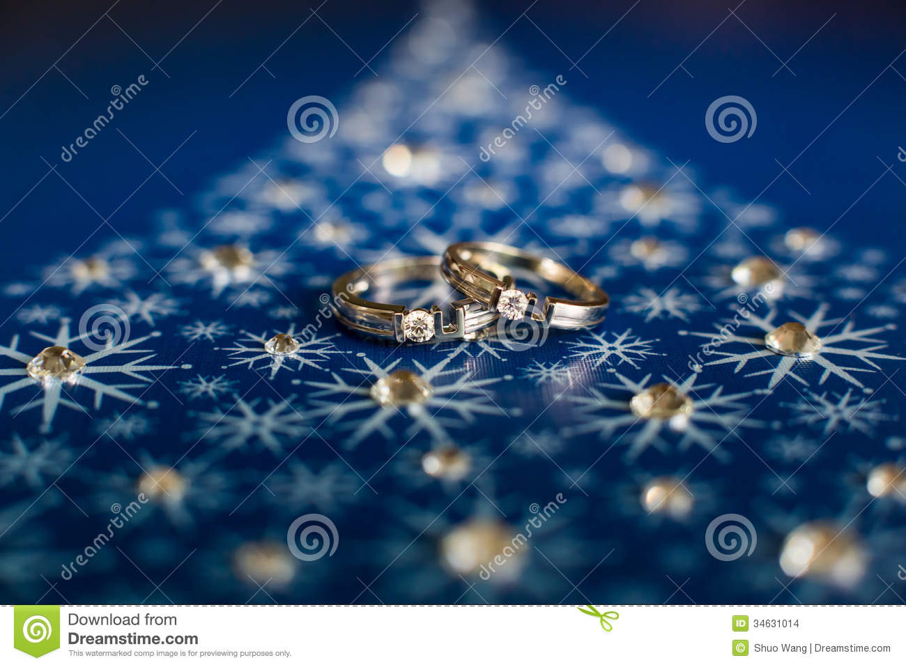 stock images wedding rings blue background image blue wedding rings Wedding rings