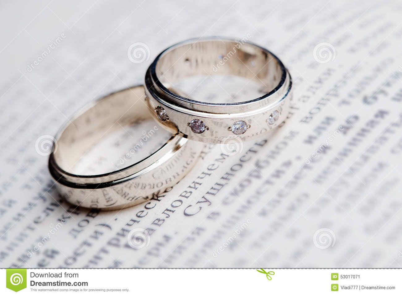Wedding rings on the book stock image Image of beauty 53017071