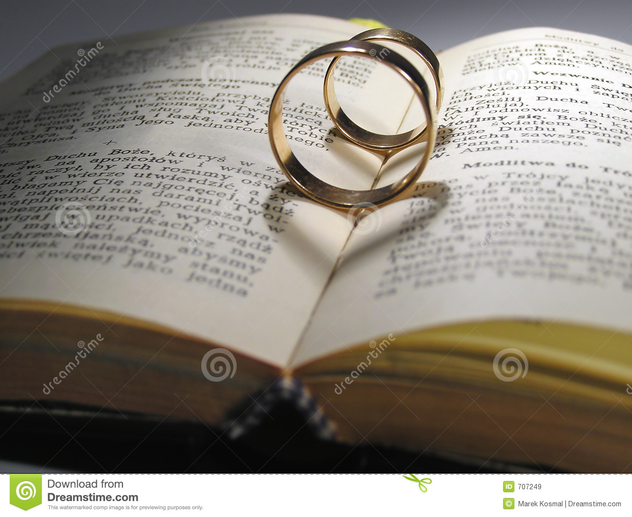 Wedding rings and book stock image Image of book letter 707249