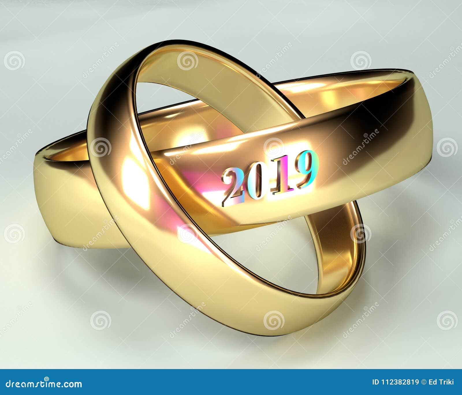 Wedding Rings Ceremony 2019 Stock Image Image Of Jewelry Band
