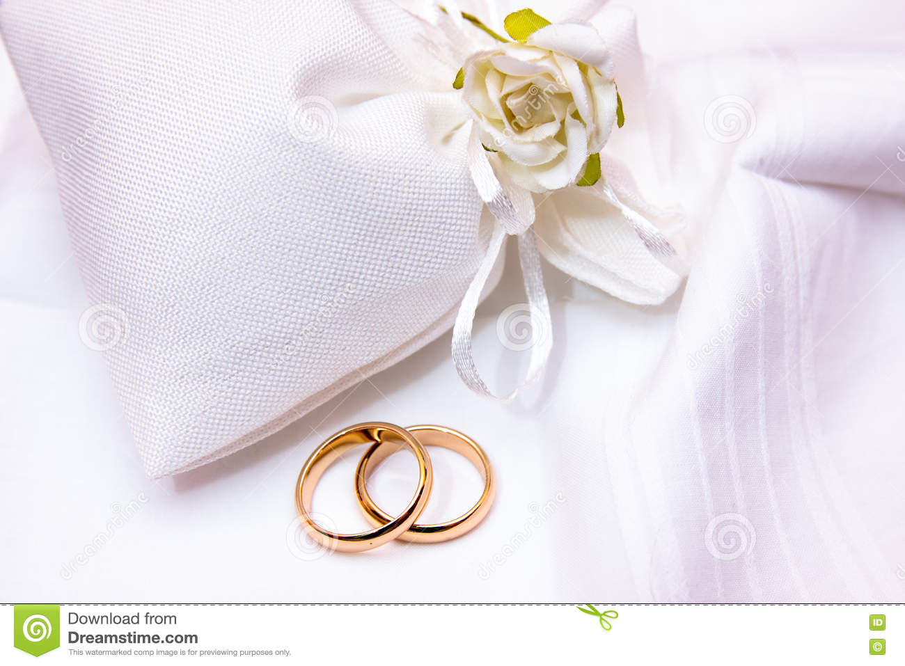 Wedding Rings In A Cloth Bag Stock Photo Image Of Gold Married