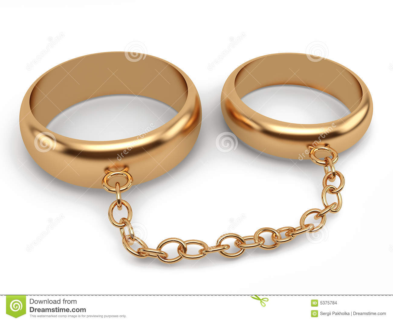 Wedding Rings Connected Chain Stock Illustration