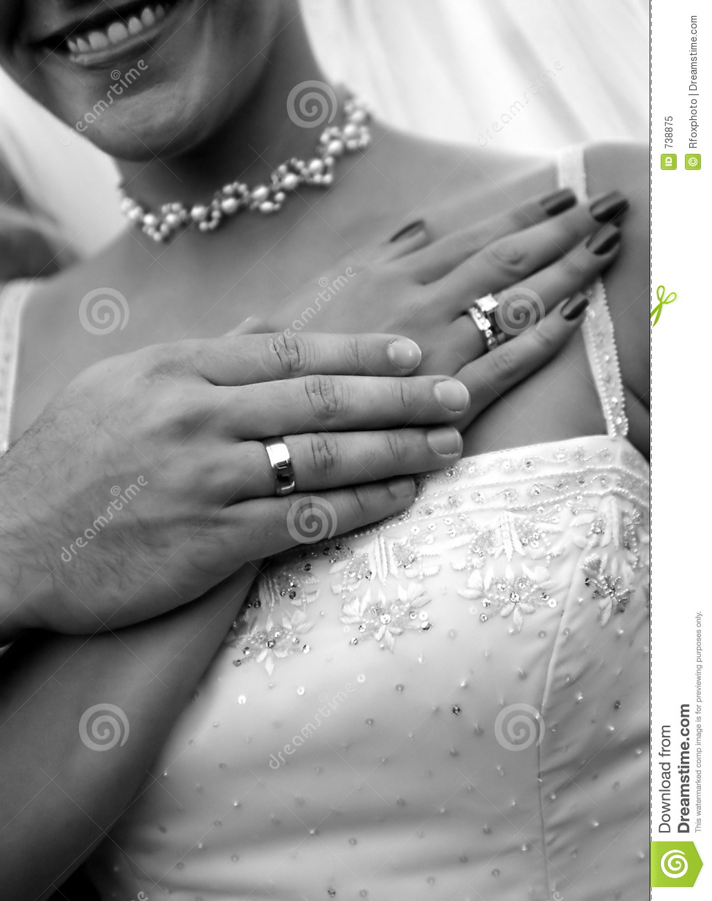 Wedding rings & couple stock image. Image of lovers, hands ...