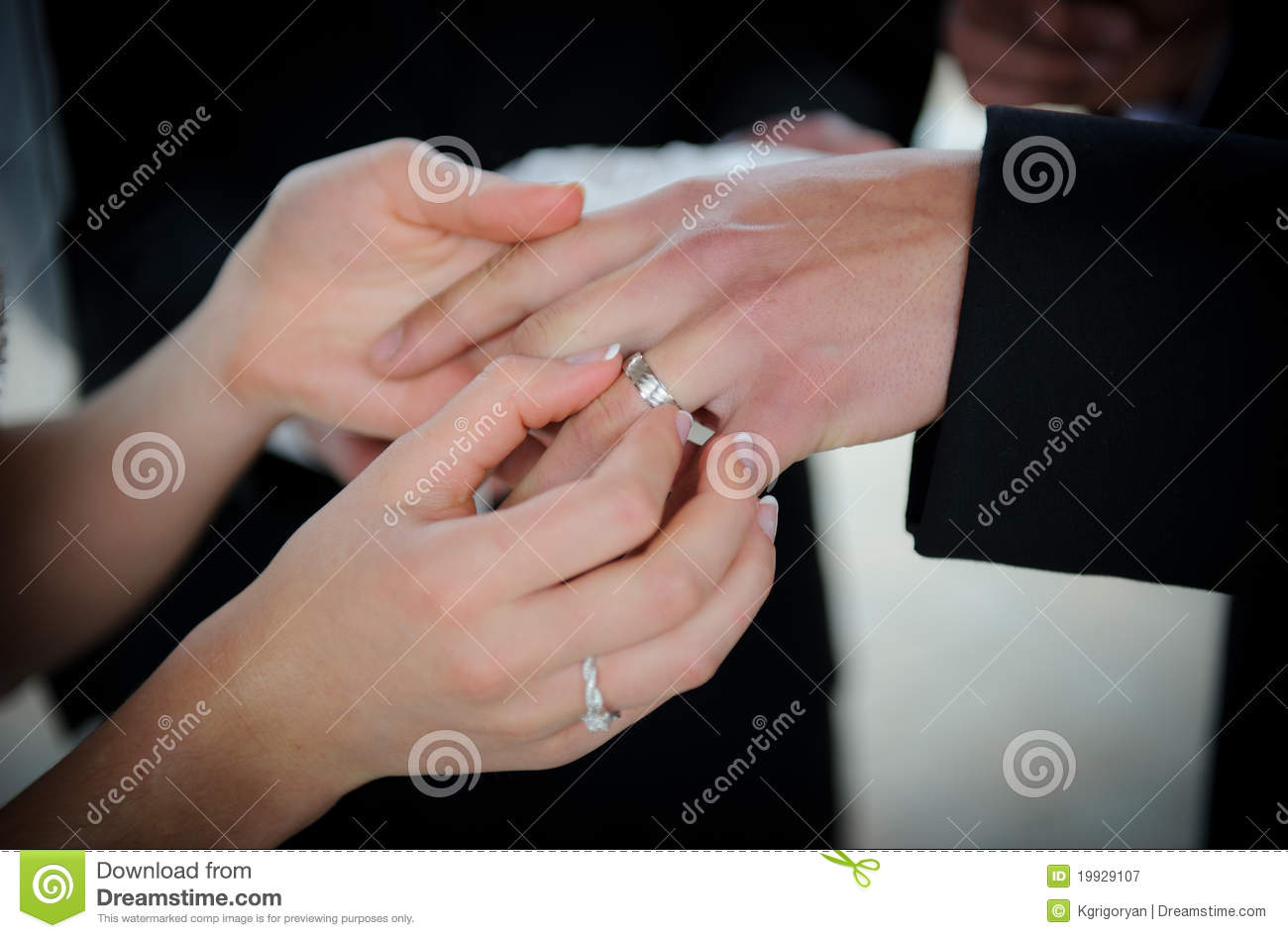 Wedding rings exchange stock image. Image of diamond - 19929107