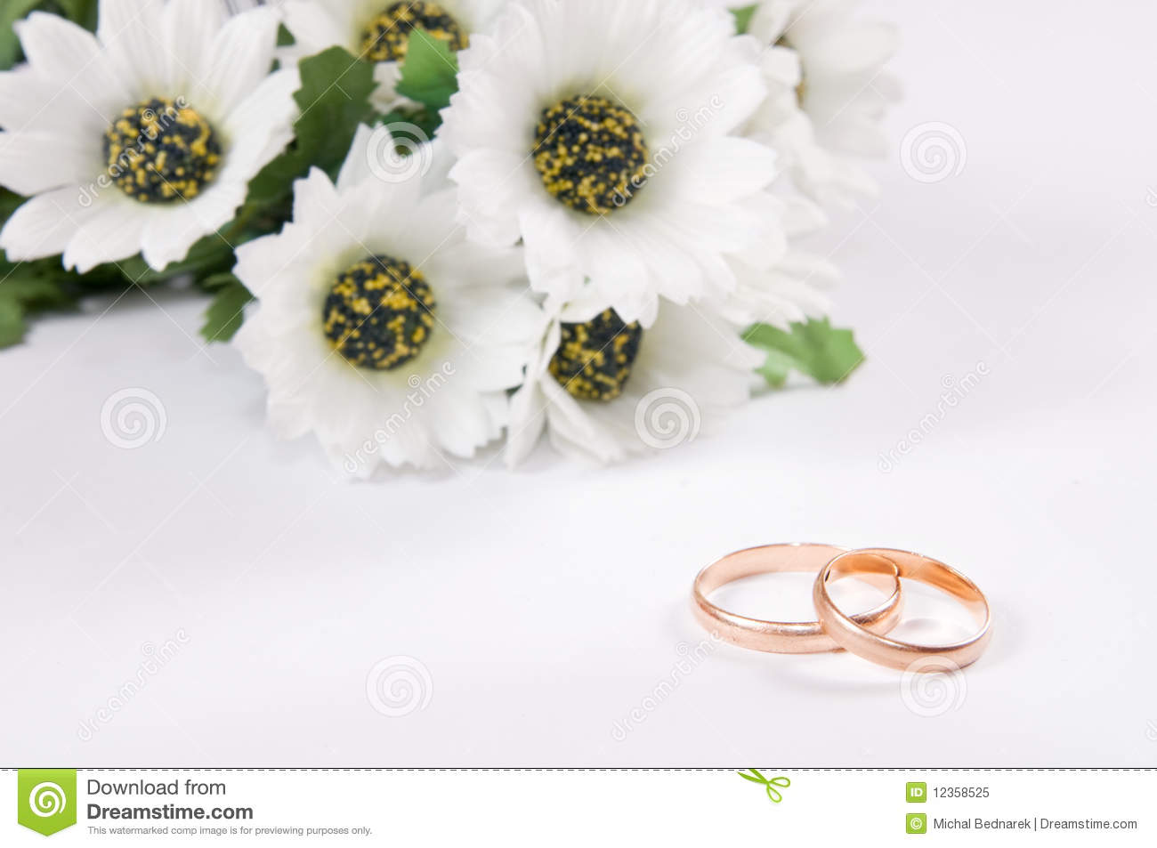 Wedding Rings And Flowers Royalty Free Stock Photo Image 12358525