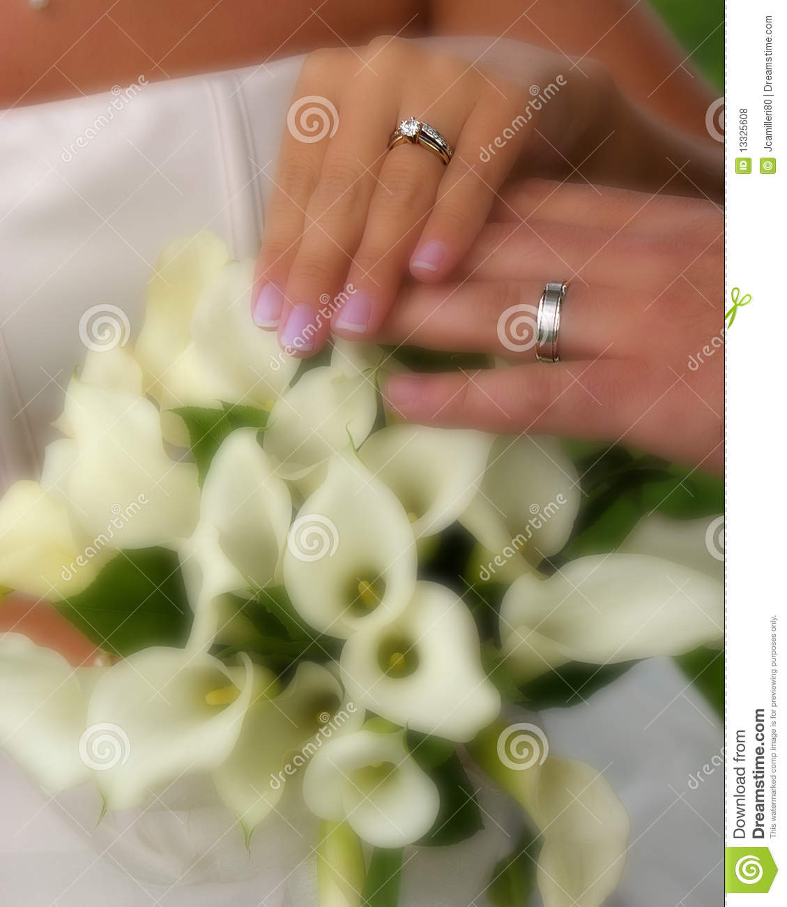 Wedding Rings With Flowers Royalty Free Stock Photos Image 13325608