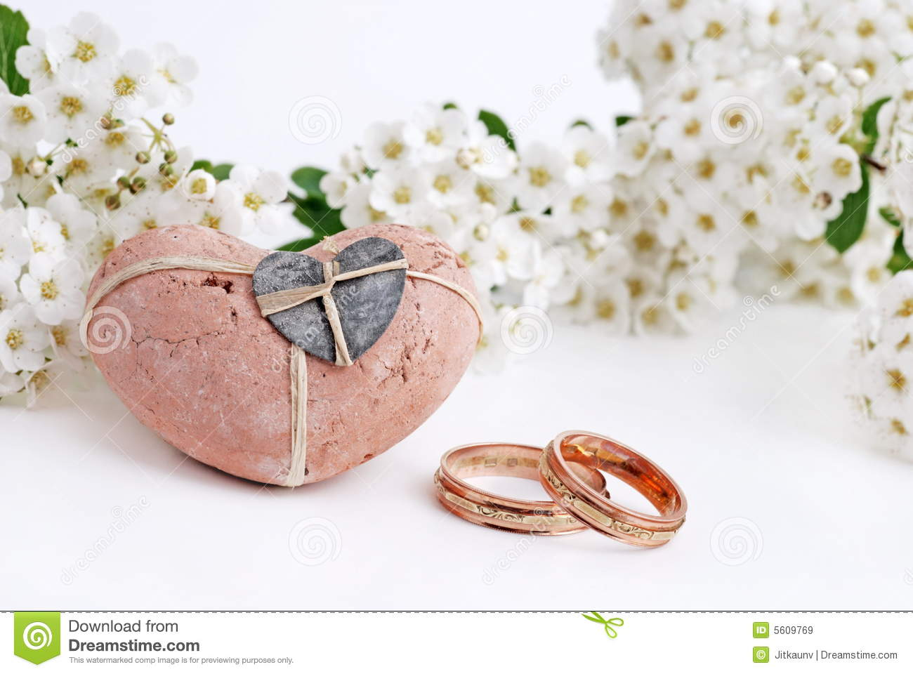 Wedding rings flowers  Wedding Rings And Flowers Royalty Free Stock Images - Image: 5609769