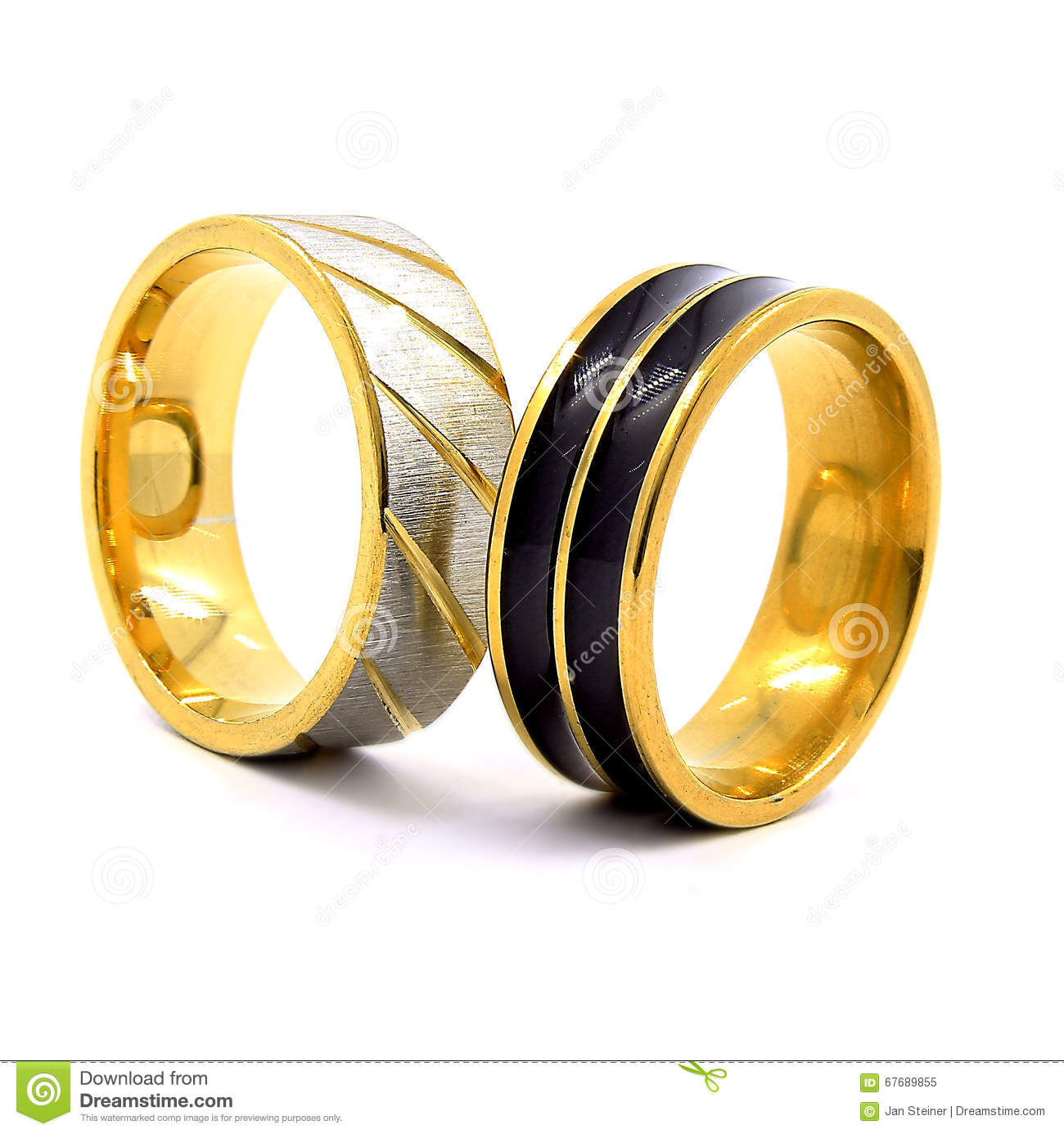 wedding rings gold silver and black and silver - Gold And Silver Wedding Rings
