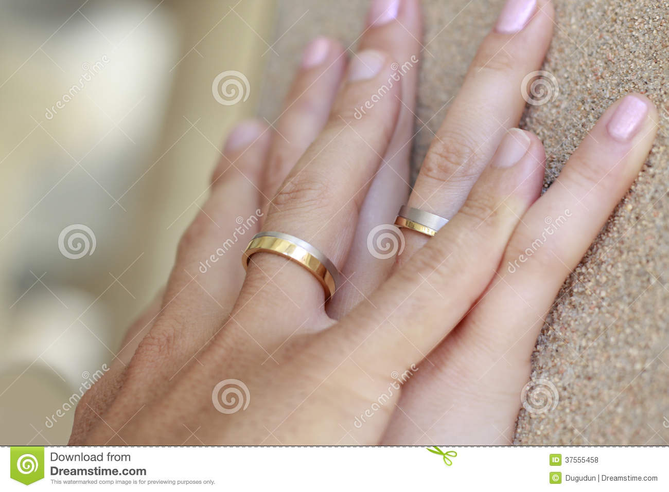 Wedding rings on hands stock photo. Image of hands, love - 37555458