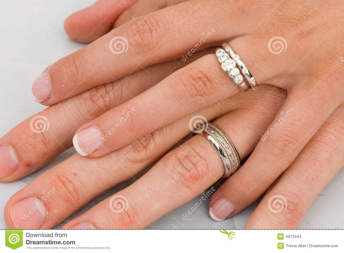 wedding rings on hands stock images image 4973444