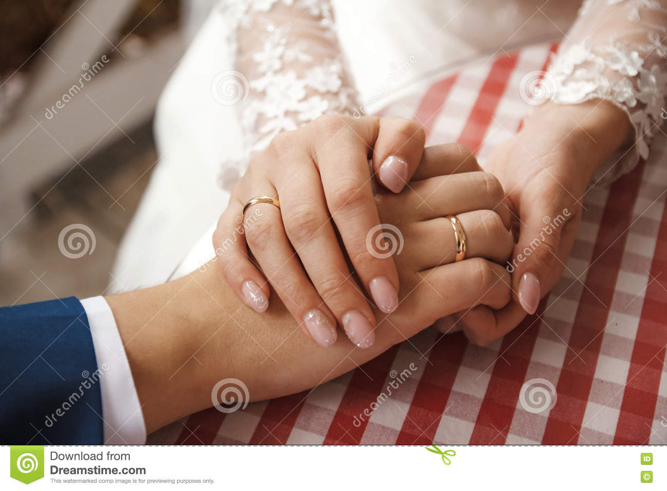Wedding Rings In The Hands Of Men And Women Stock Photo Image Of