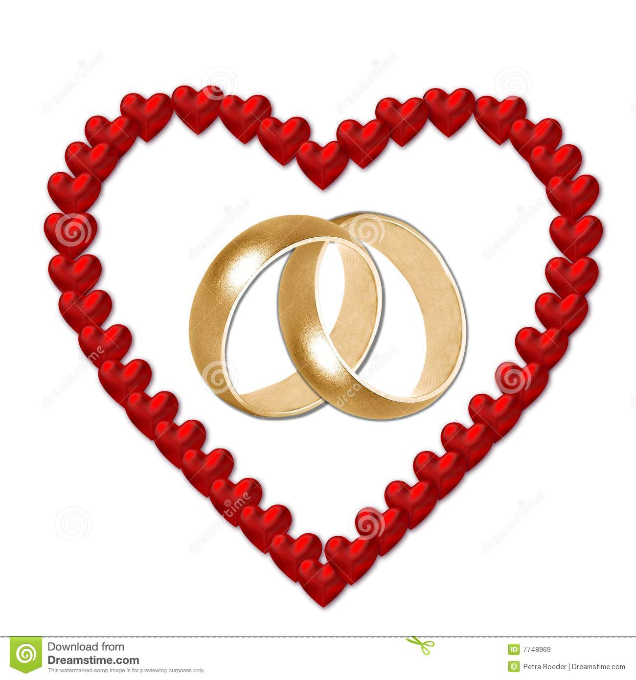 wedding rings in heart stock illustration illustration of