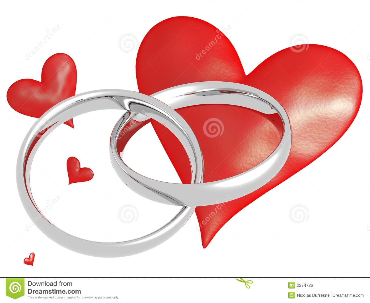 Wedding Rings With Hearts Royalty Free Stock Image Image