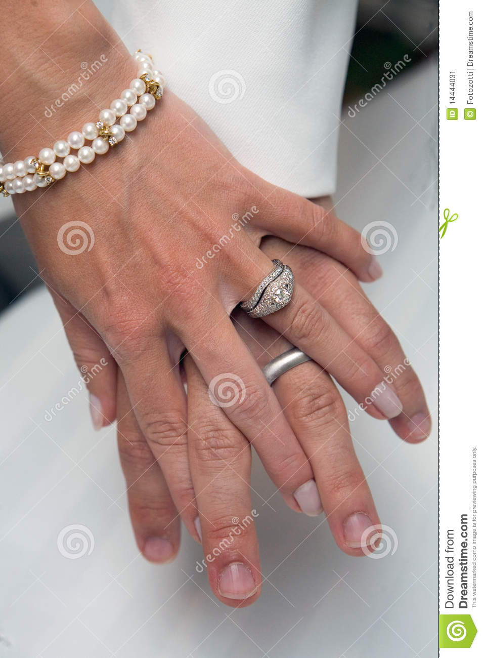 Wedding Rings Holding Hands Stock Image Image 14444031