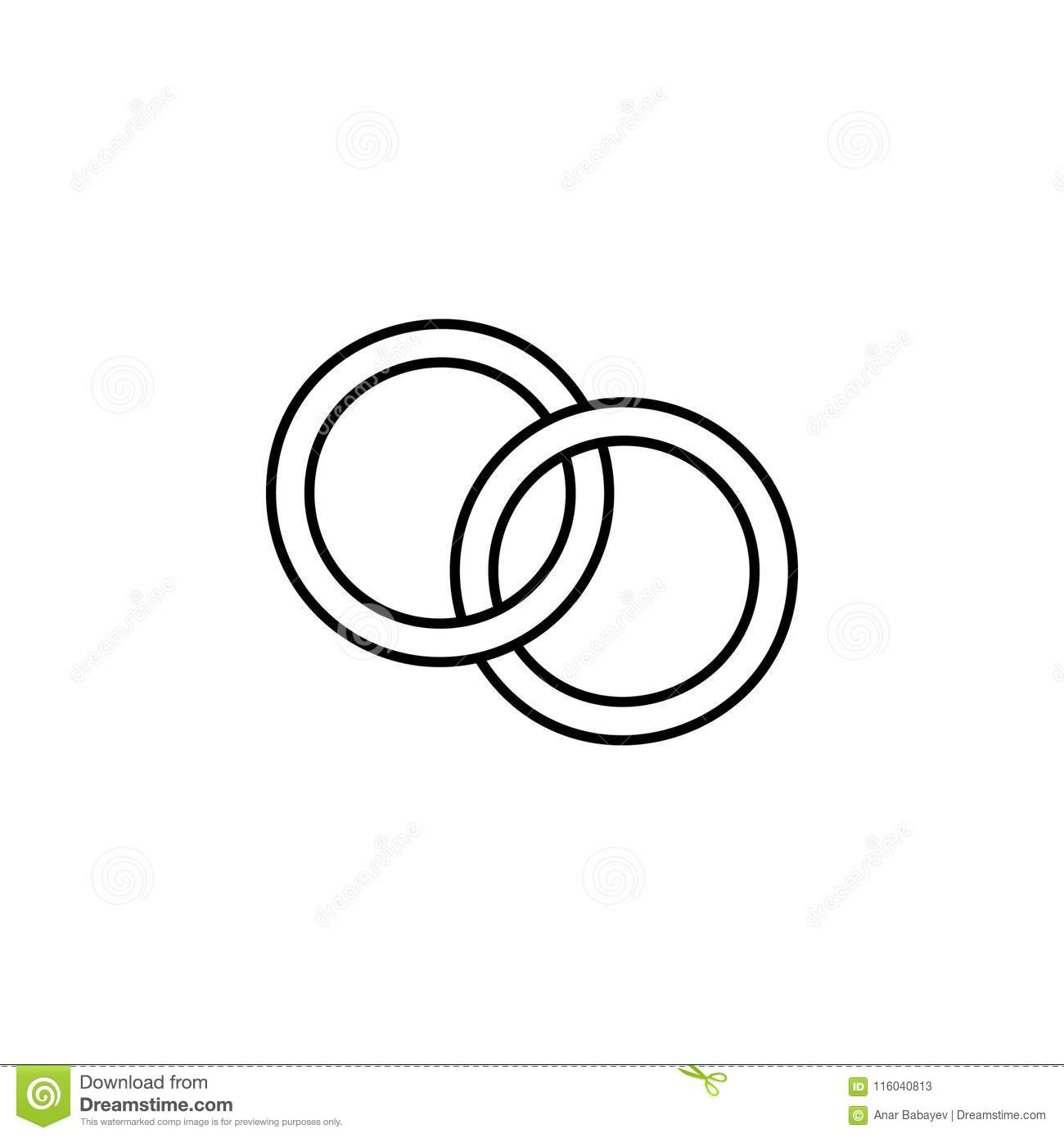 wedding rings icon. element of wedding for mobile concept and web