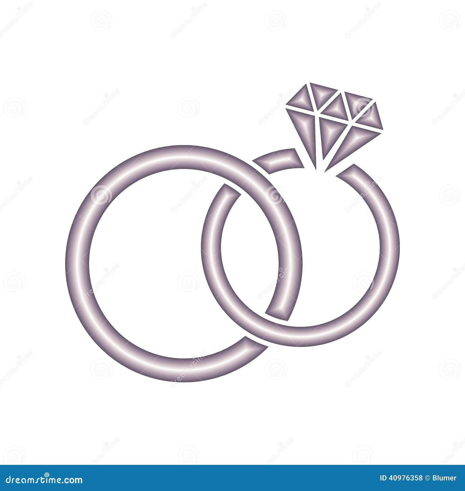 Wedding Rings Stock Vector