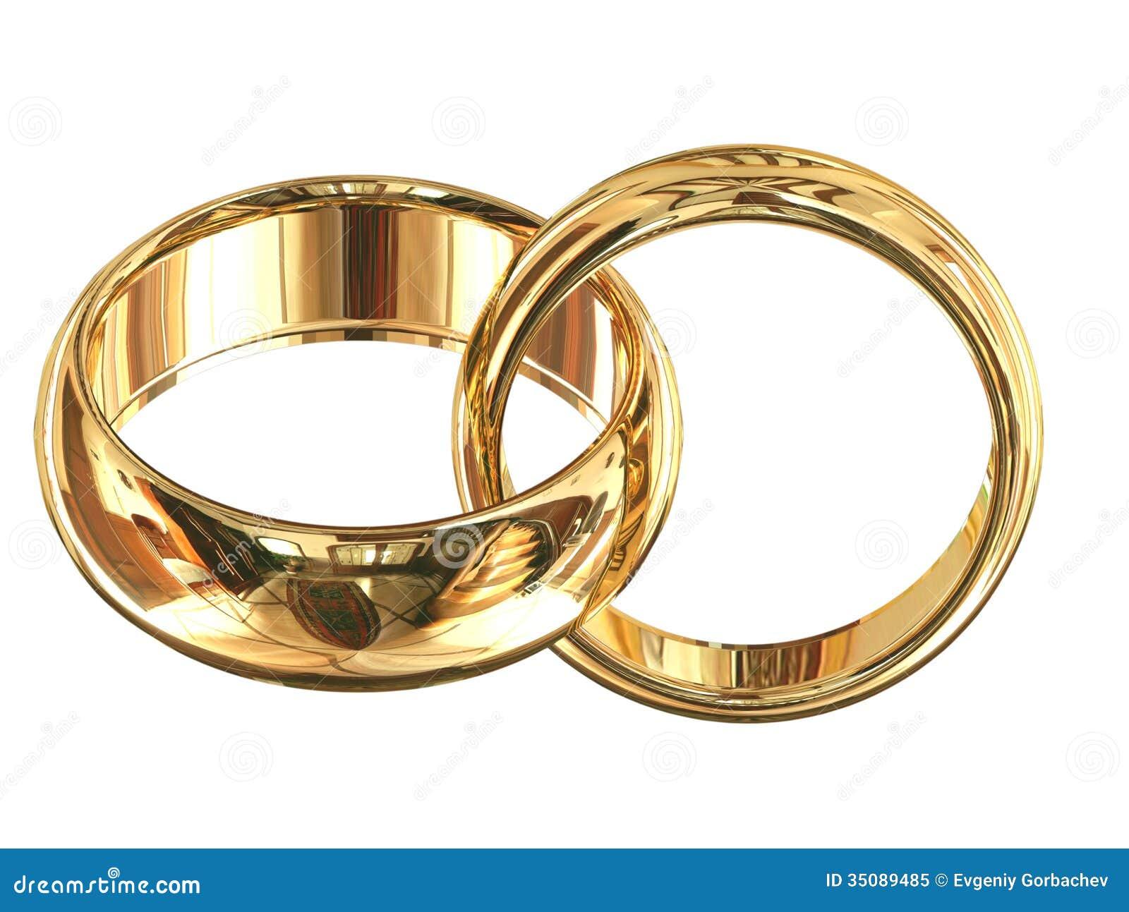 Wedding Rings Isolated Royalty Free Stock Photo