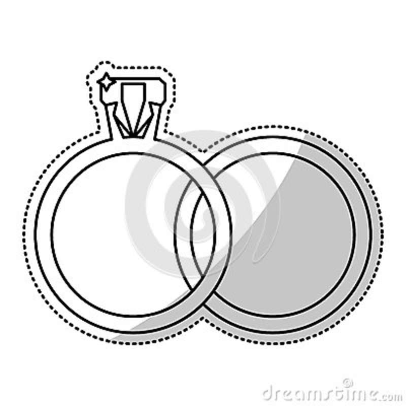 Wedding Rings Jewelry Outline Stock Illustration Illustration Of