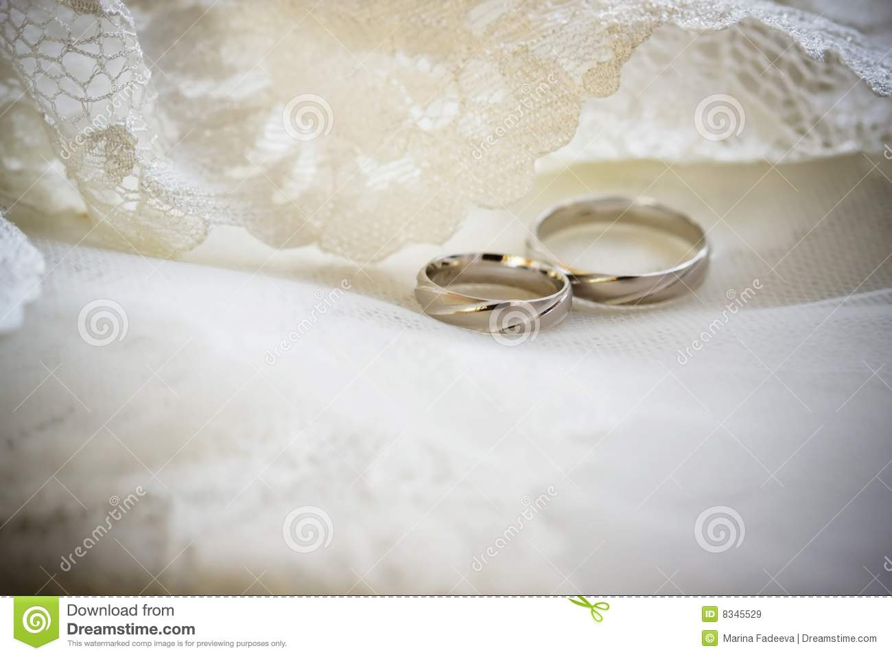 Wedding Rings On A Lace Background Stock Image Image of beautiful