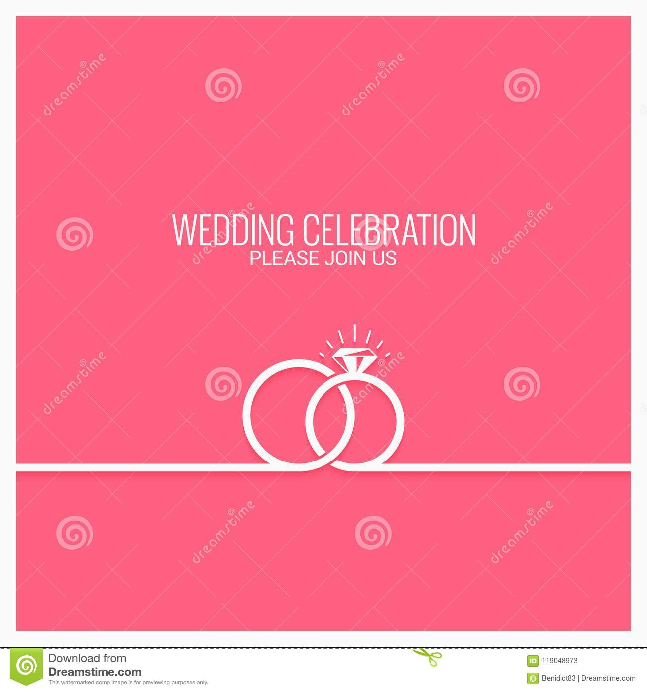 Wedding Rings Line Concept Vector Background Stock Vector ...