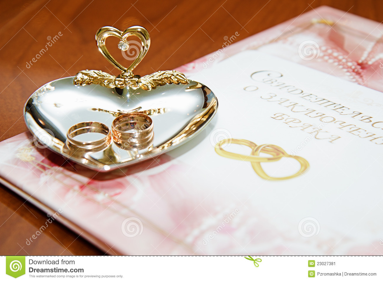 stock image wedding rings marriage certificate image wedding certificate Wedding rings and marriage certificate