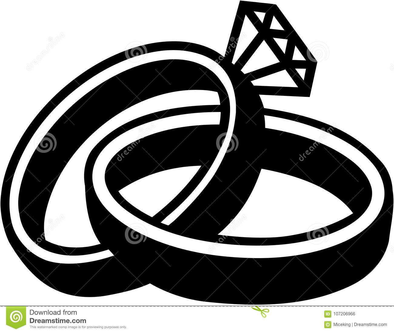 Wedding Rings Marriage Stock Vector. Illustration Of