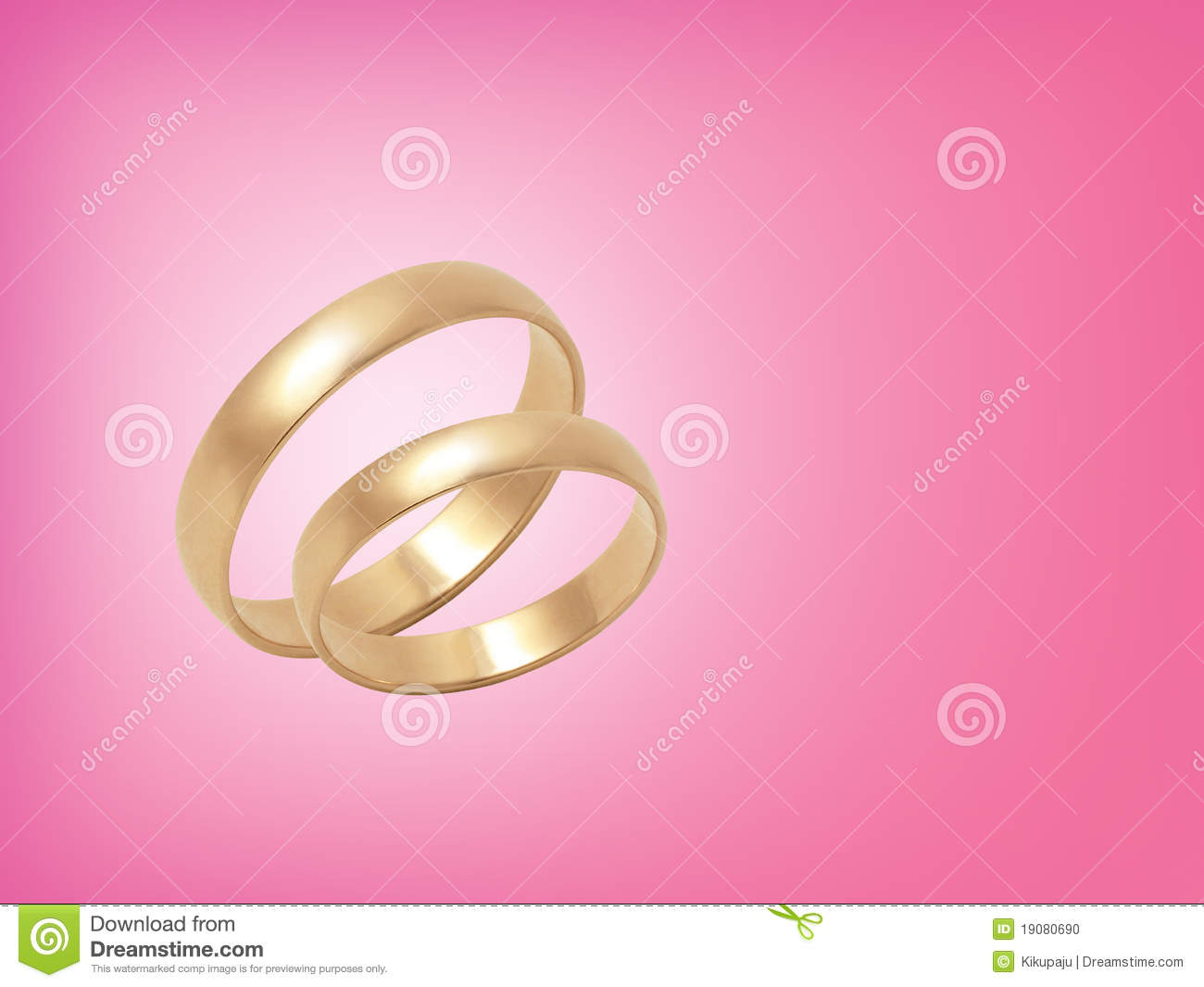 Wedding Rings On Pink Background Stock Photo - Image of orchid ...