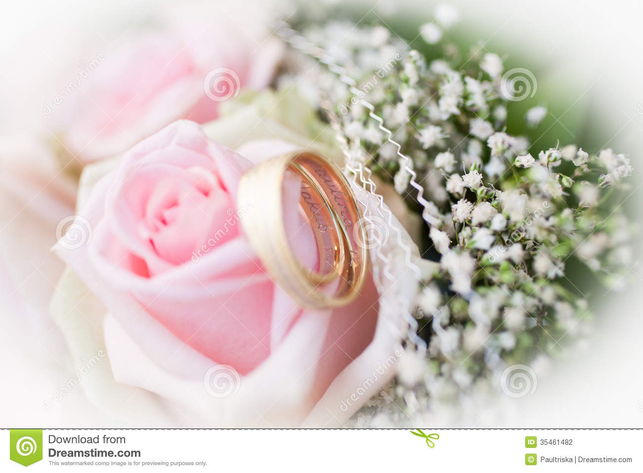 Wedding rings and roses stock photo. Image of event, jewelry - 35461482