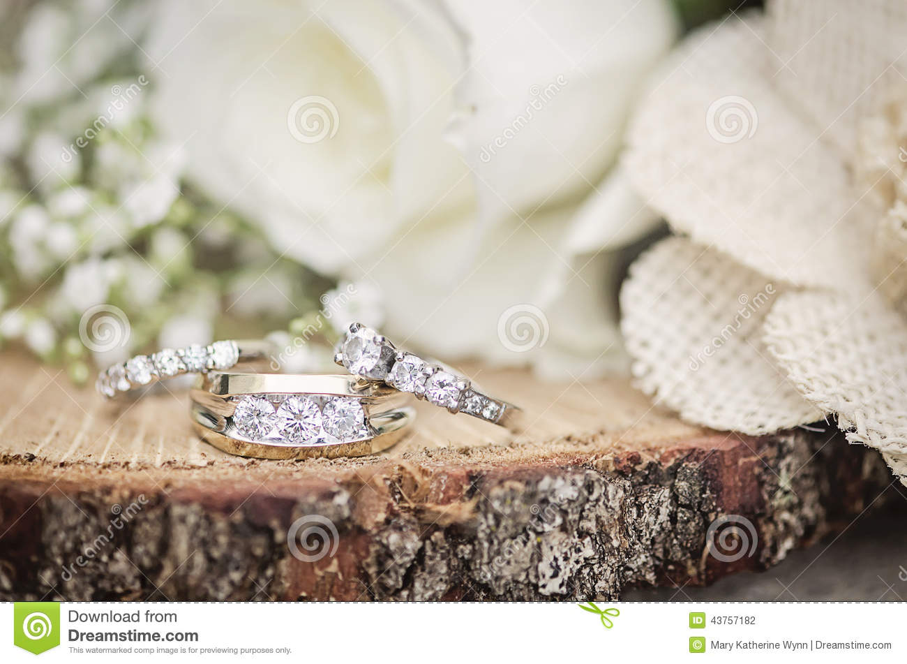 wedding rings rustic setting stock photography - Rustic Wedding Rings