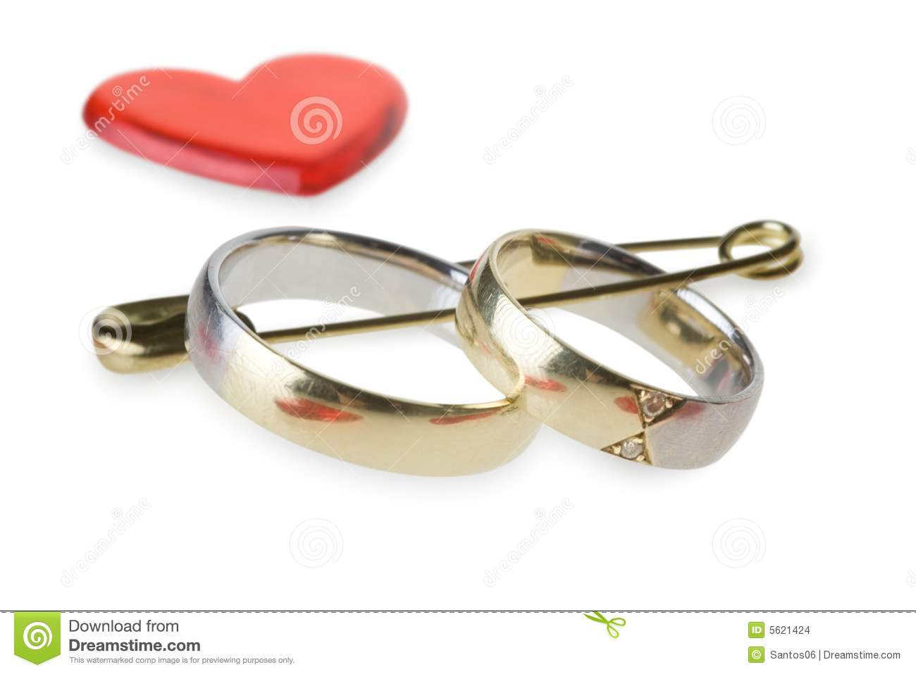 stock images wedding rings safety pin image safety wedding rings Wedding rings in safety pin