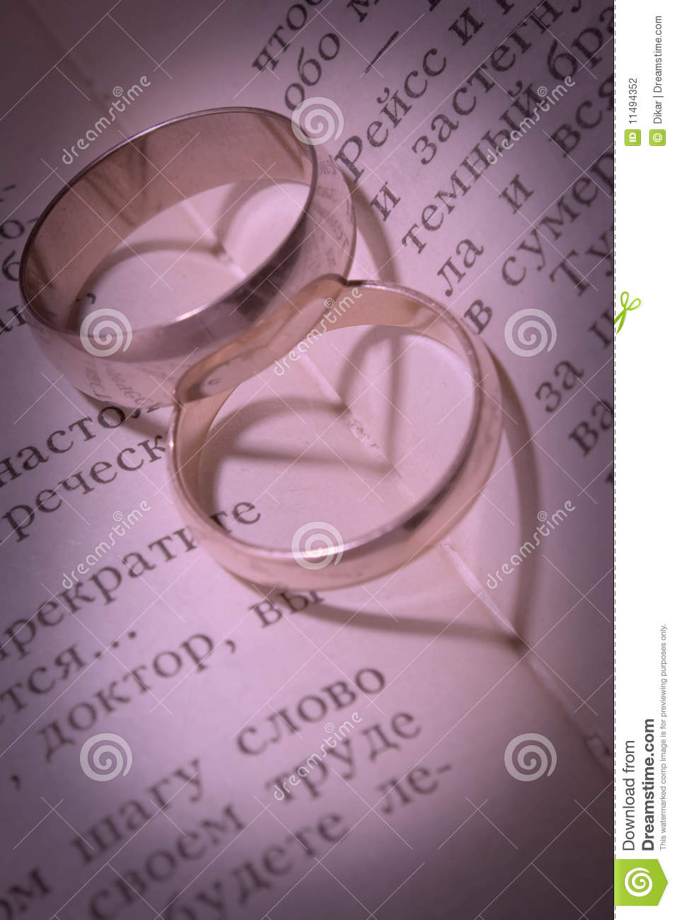 Wedding Rings And Shades In The Form Of Heart Stock Photo - Image of ...