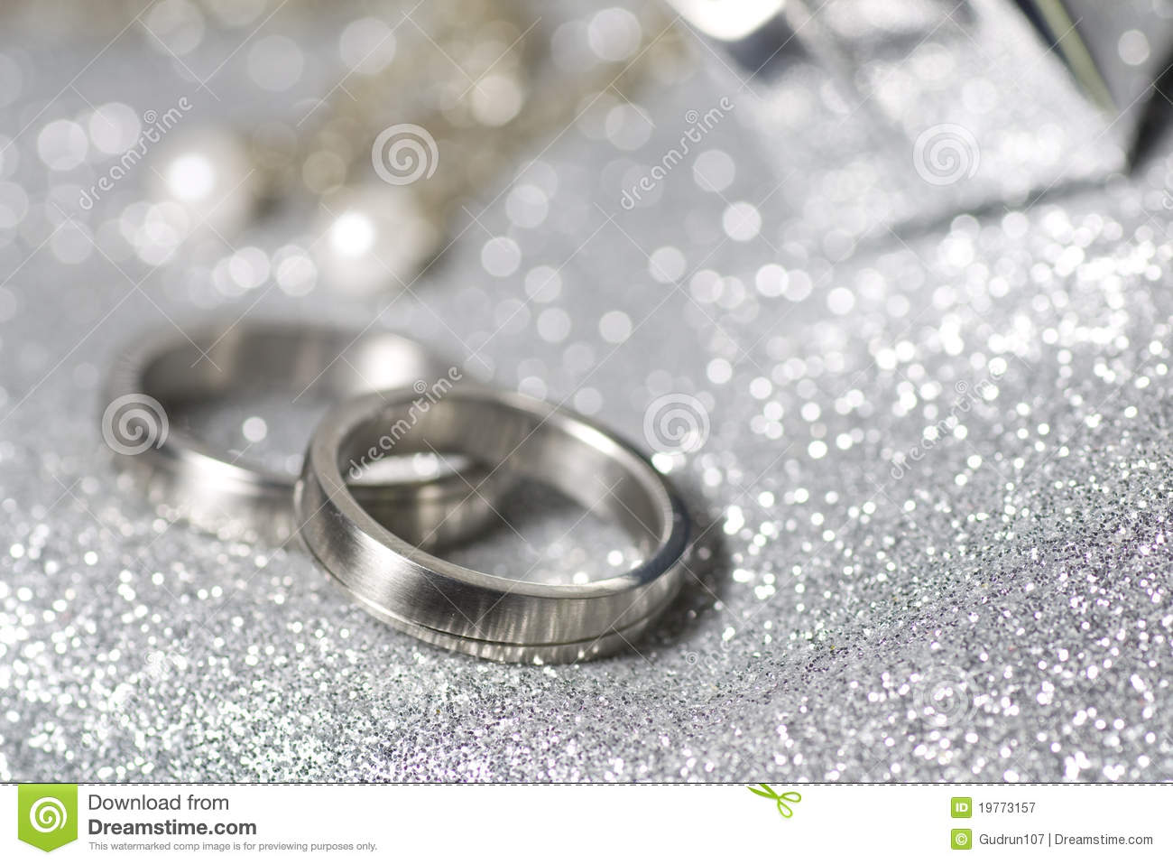 Wedding Rings In Silver Royalty Free Stock Photography - Image ...