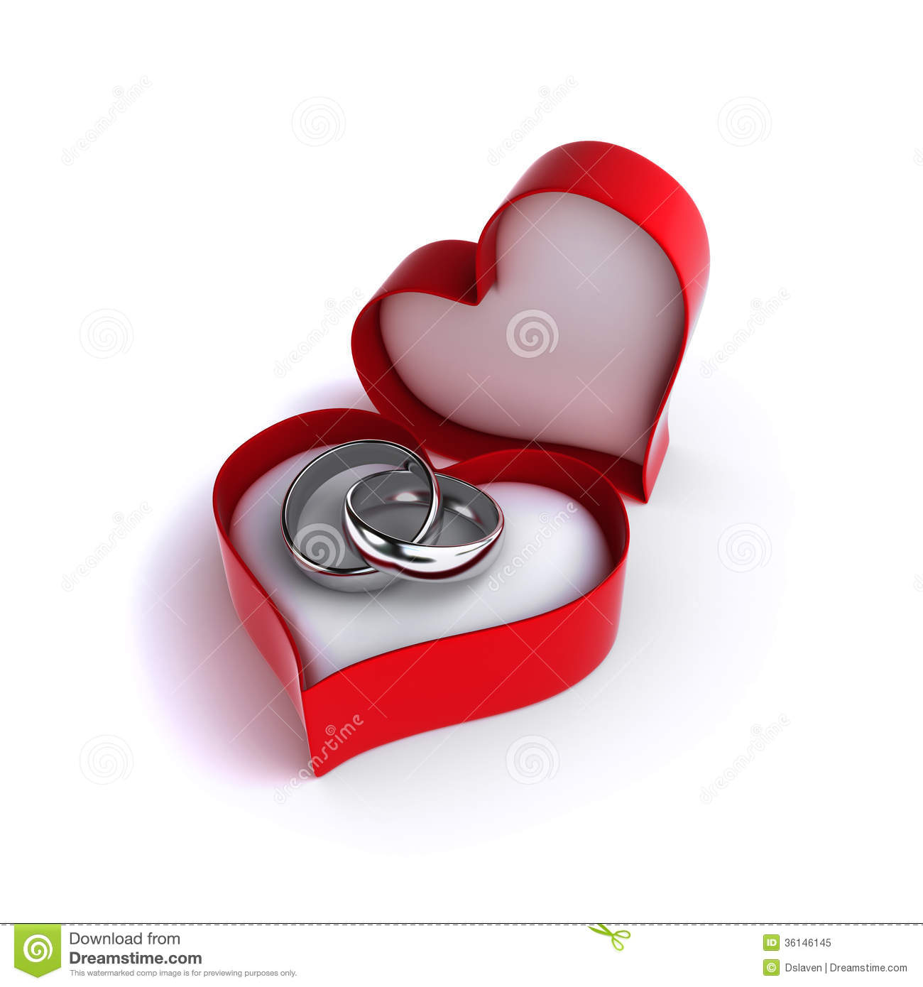 Wedding rings royalty free stock photo image 36146145 for Heart shaped engagement ring box