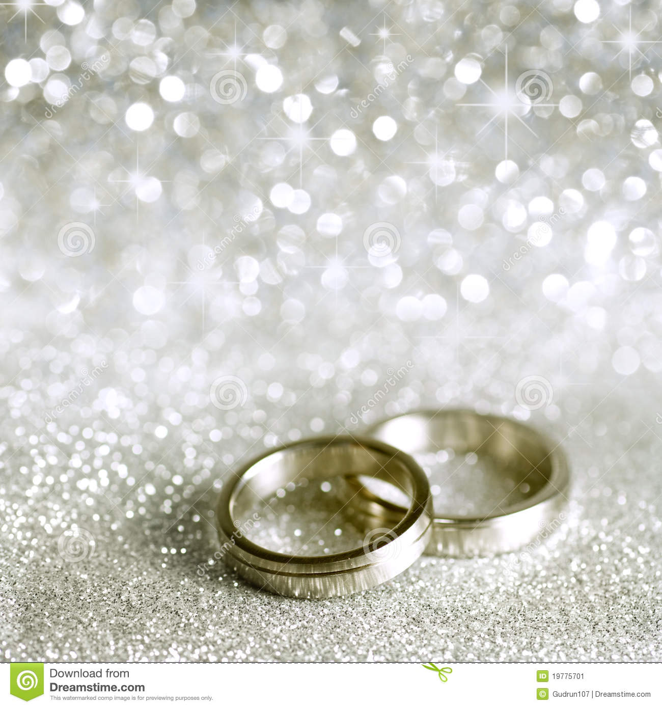 Silver Wedding Rings With No Background
