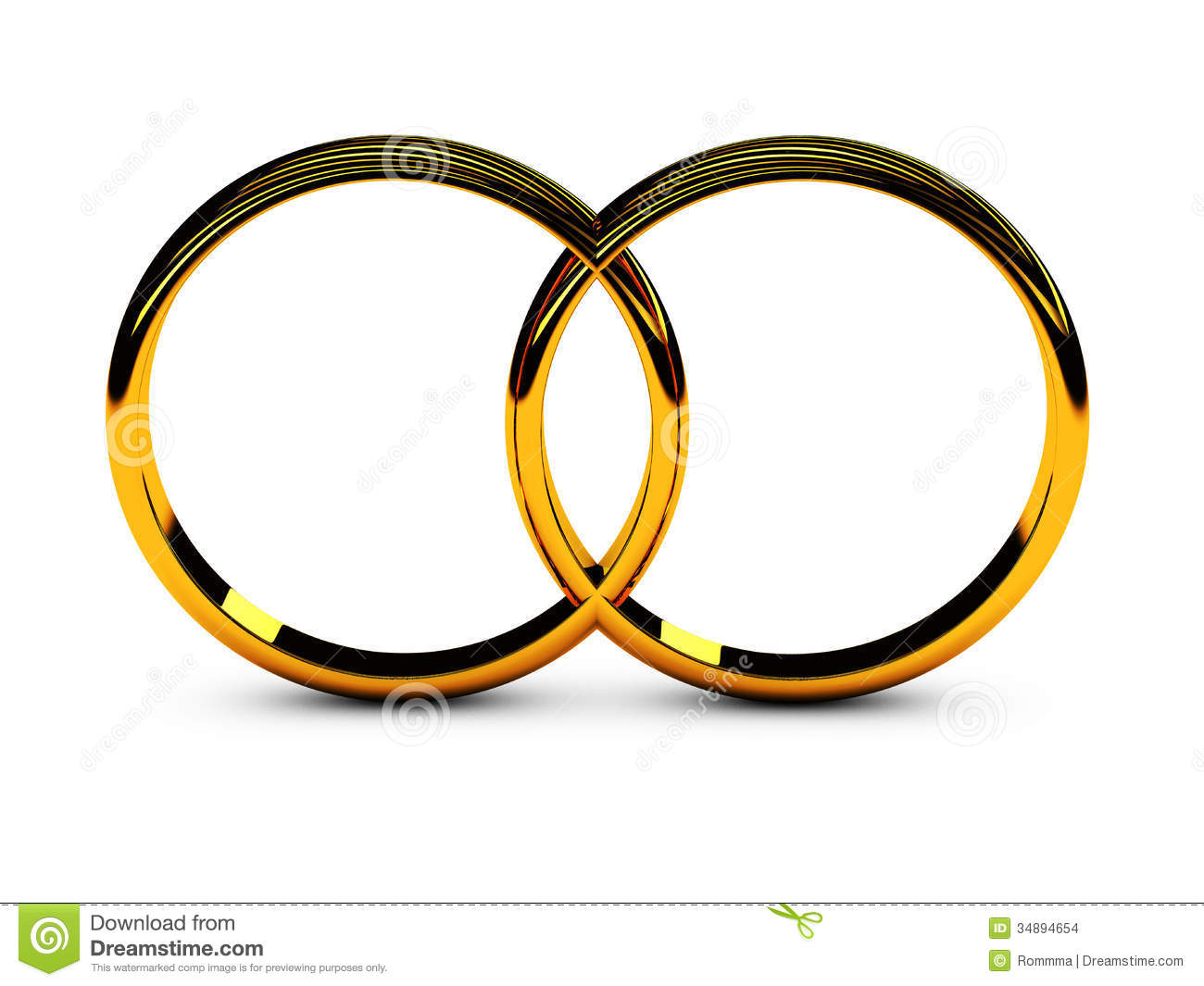 Two wedding rings symbol of love and loyalty.
