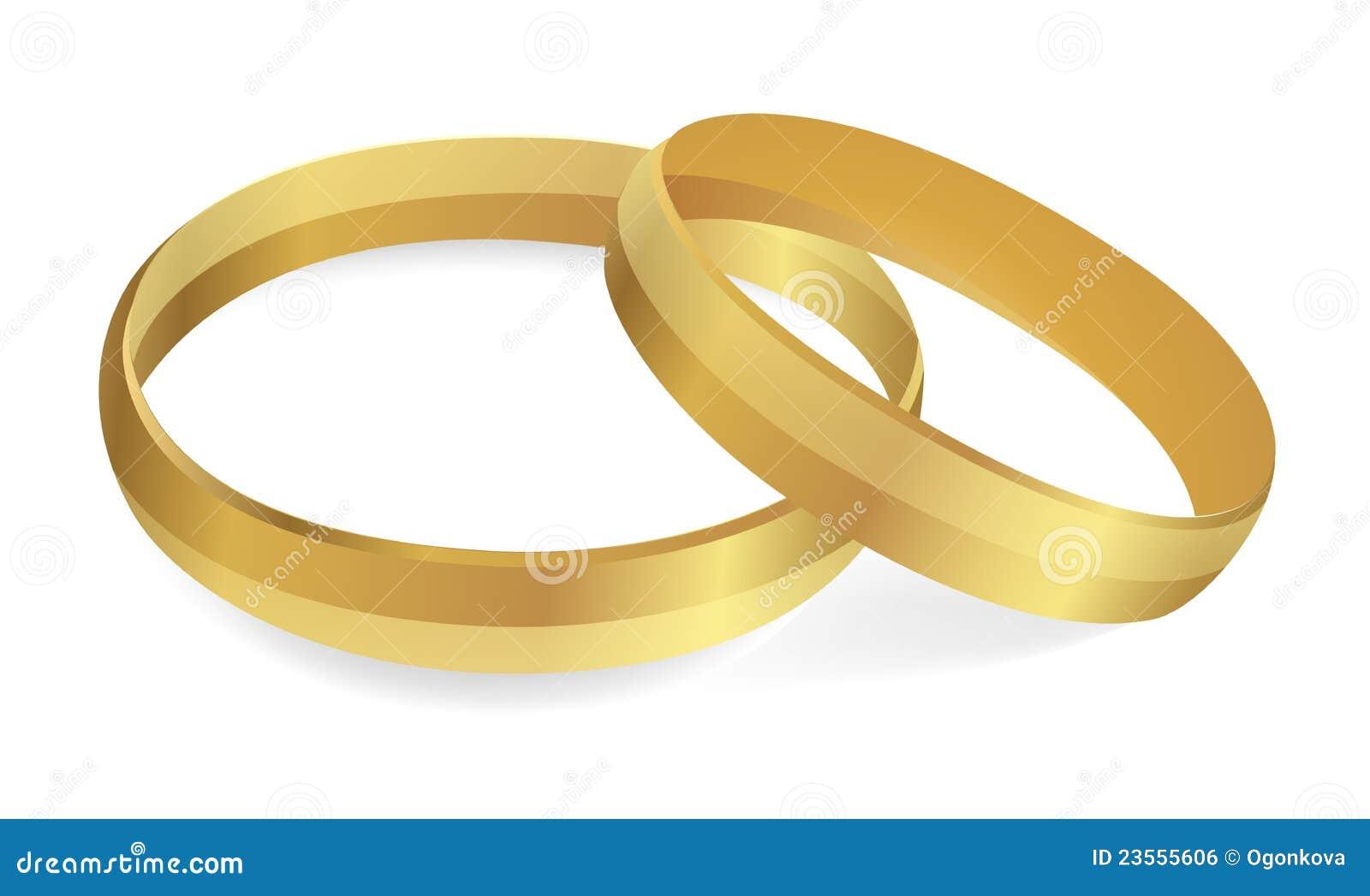 Wedding Rings. Vector Illustration Stock Vector - Image ...
