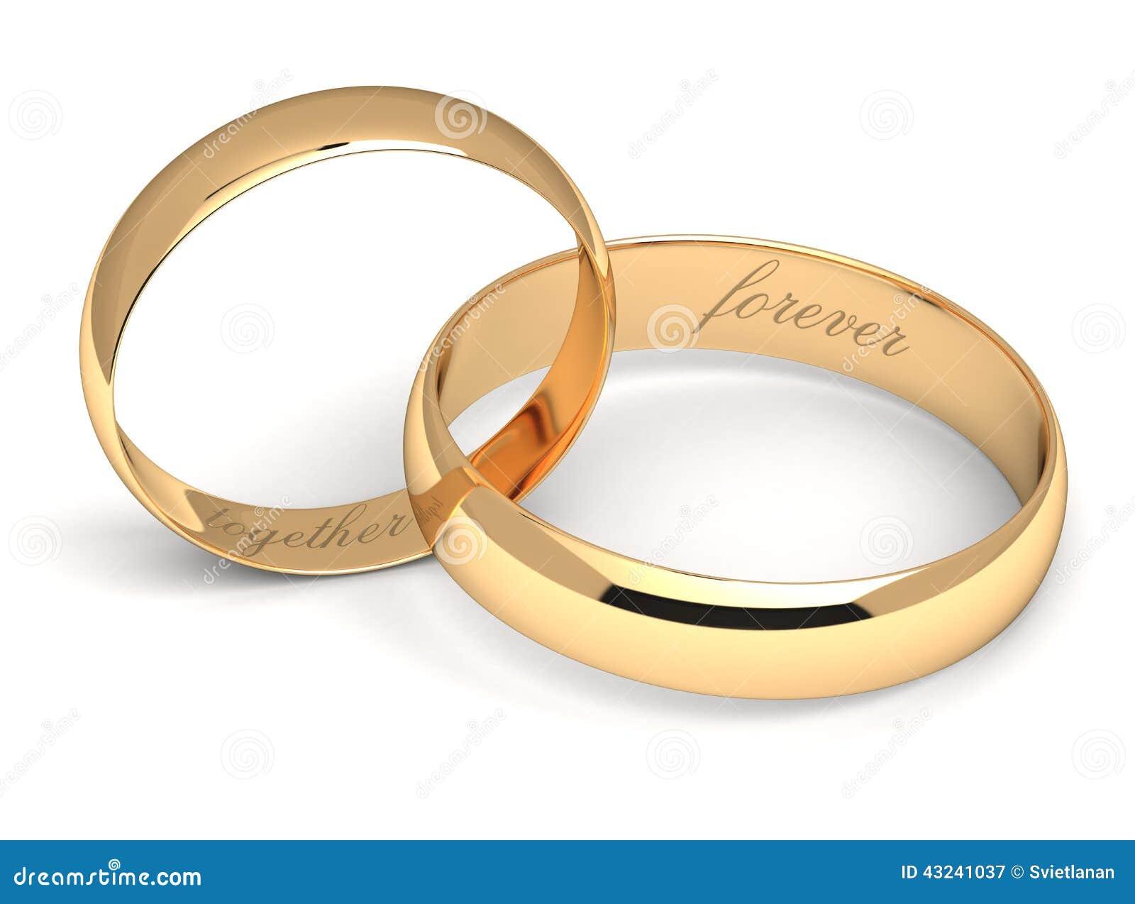 Wedding Rings On White Stock Illustration