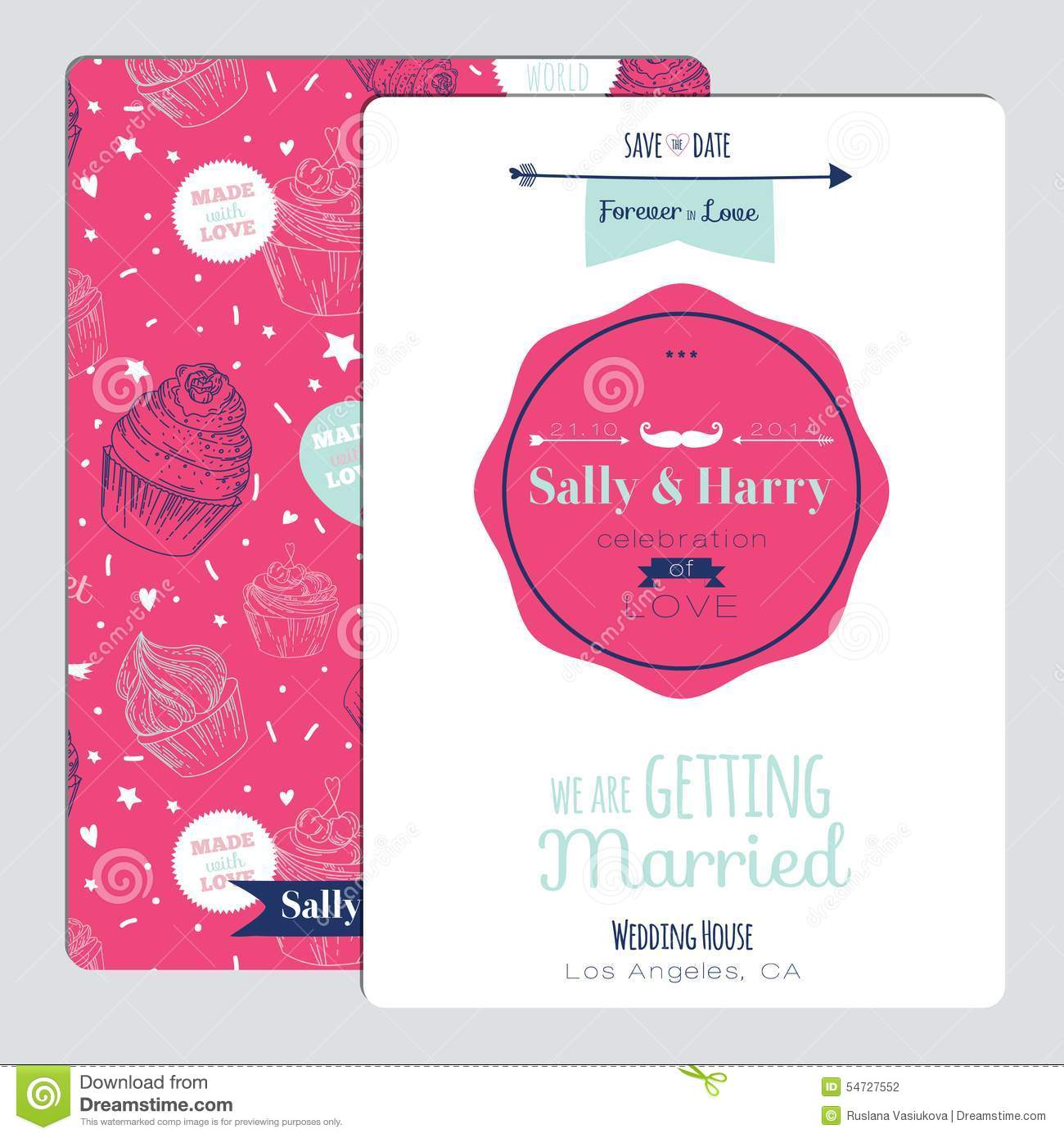 Wedding romantic floral save the date invitation stock vector wedding romantic floral save the date invitation flower label stopboris Image collections