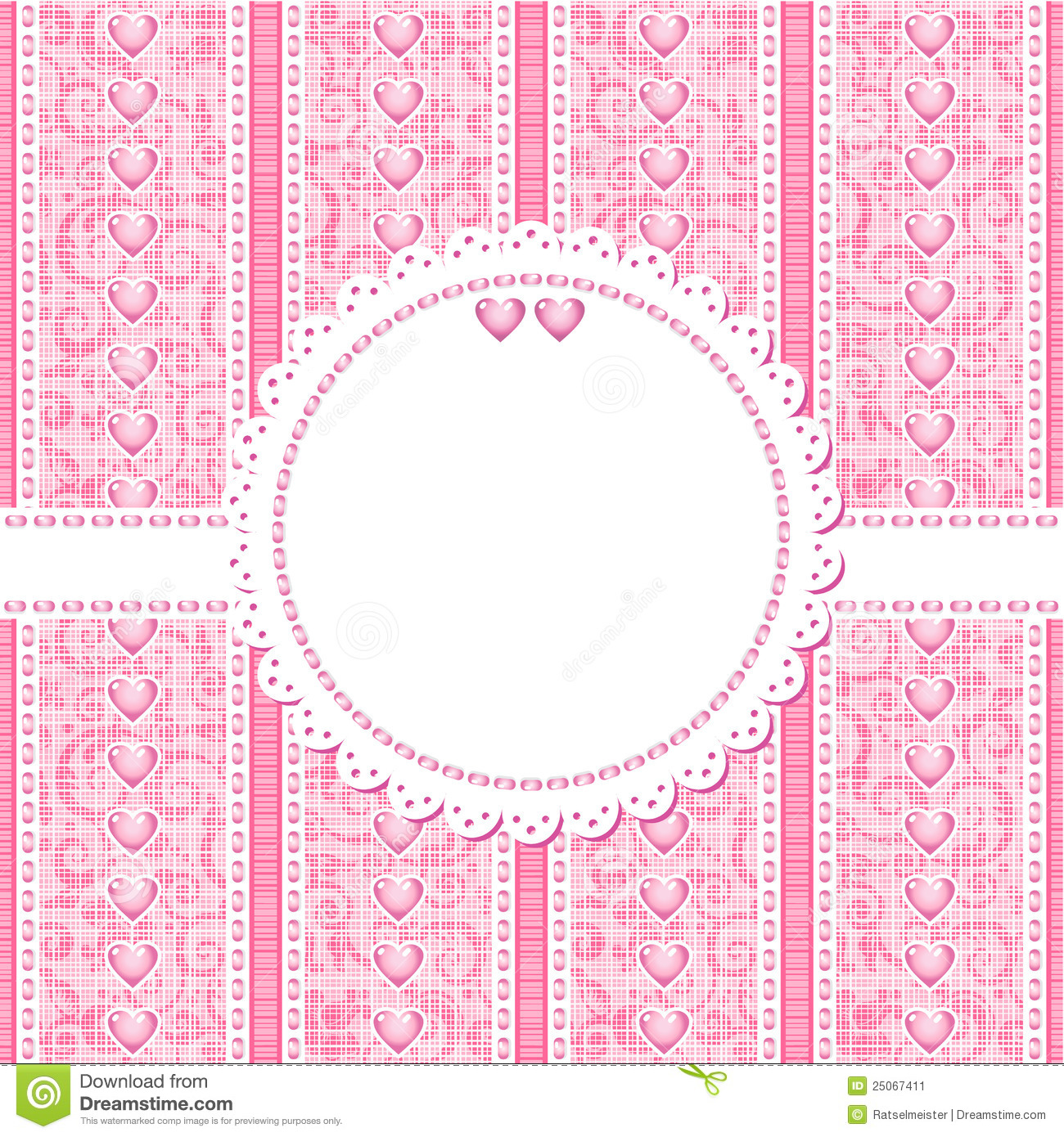 Wedding Romantic Or Valentine Day Card Template Stock Vector