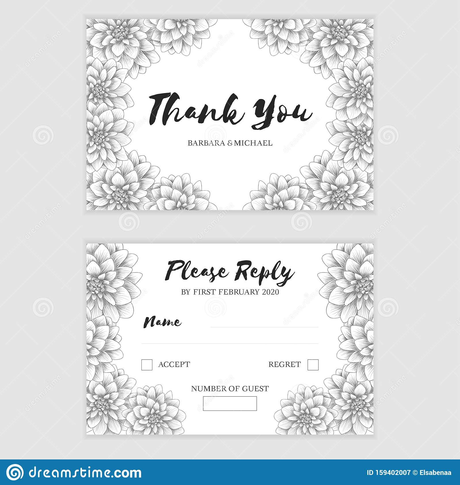 Wedding Response Card Template from thumbs.dreamstime.com
