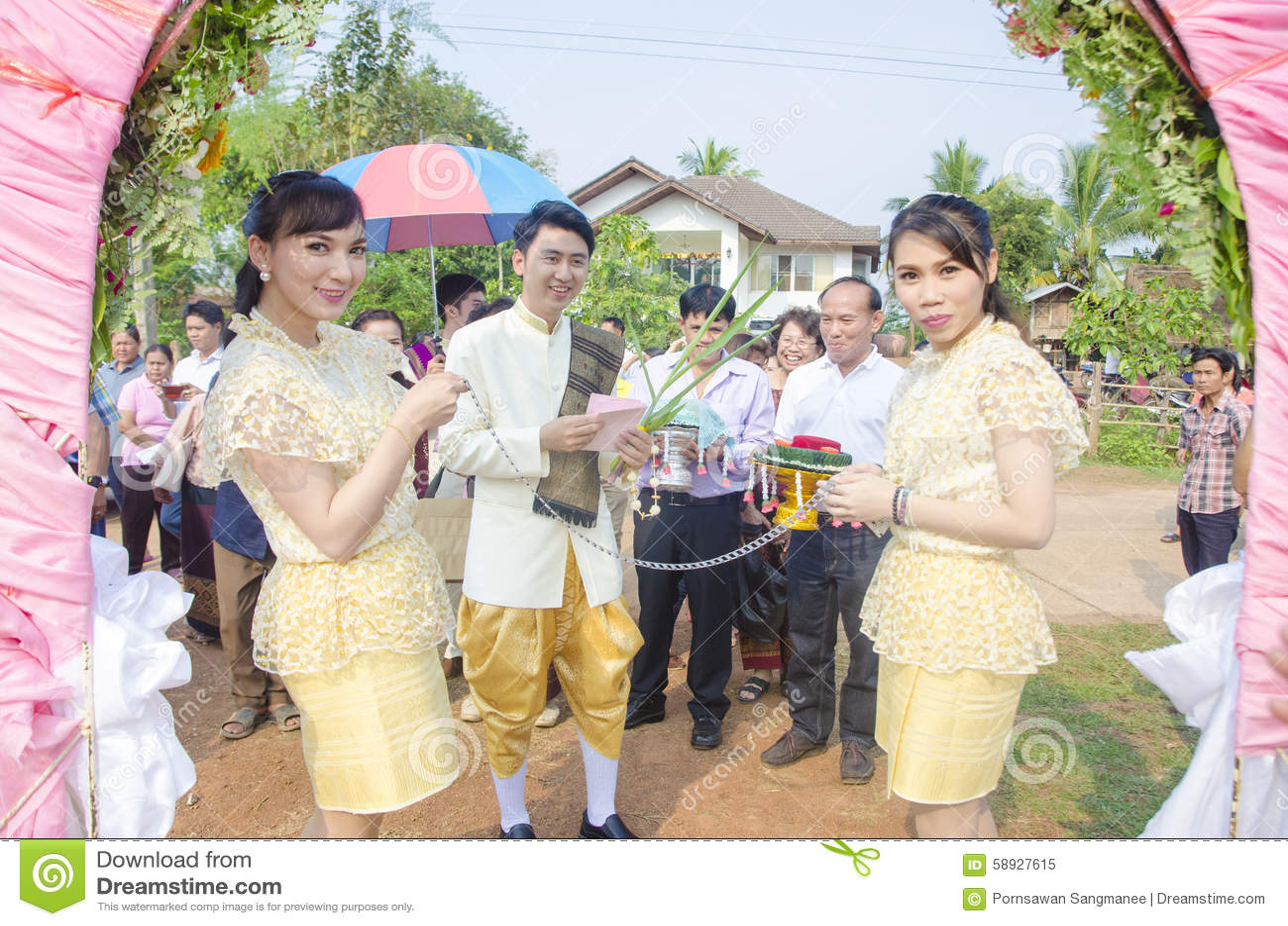 Nakhon Thai Thailand  city photos gallery : ... 2015, Thai wedding ceremony parade culture in SAKON NAKHON ,Thailand
