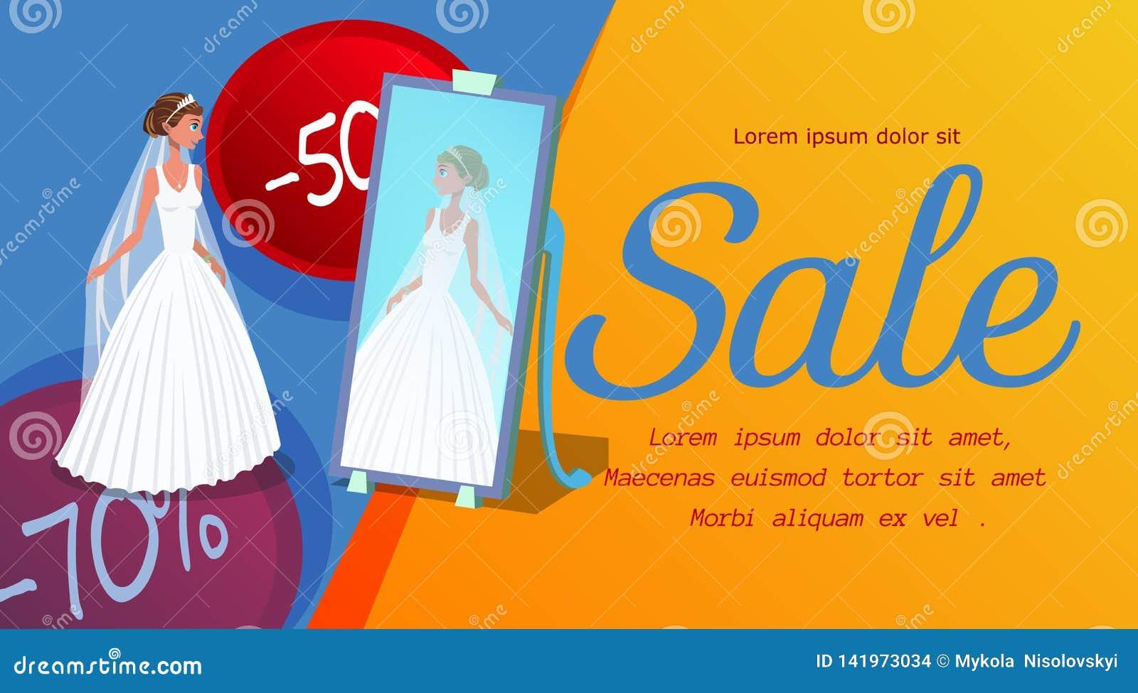 Wedding Salon Discount Banner Vector Template Stock Vector ...