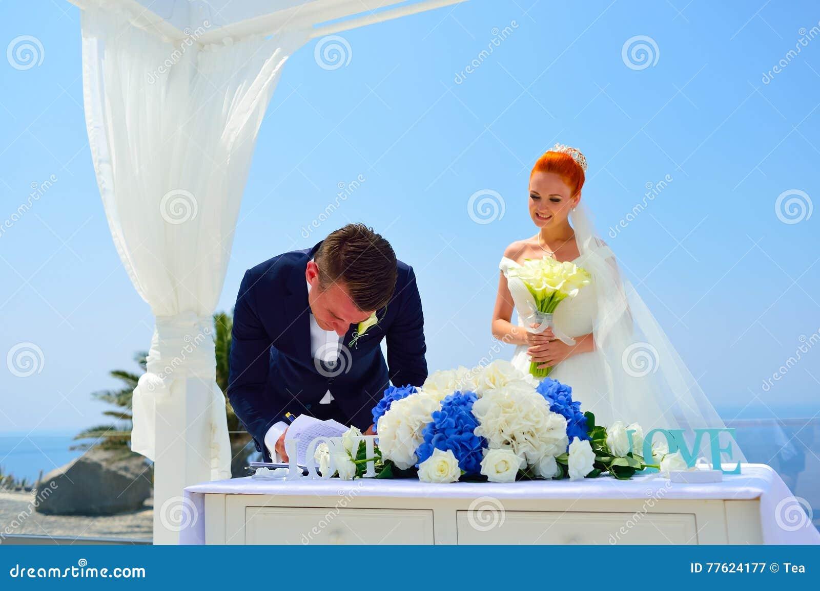 Wedding on Santorini