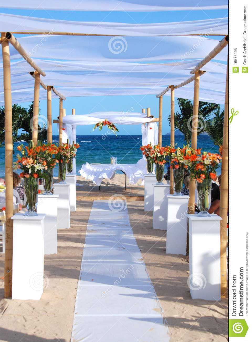 wedding by the sea beach royalty free stock photo image