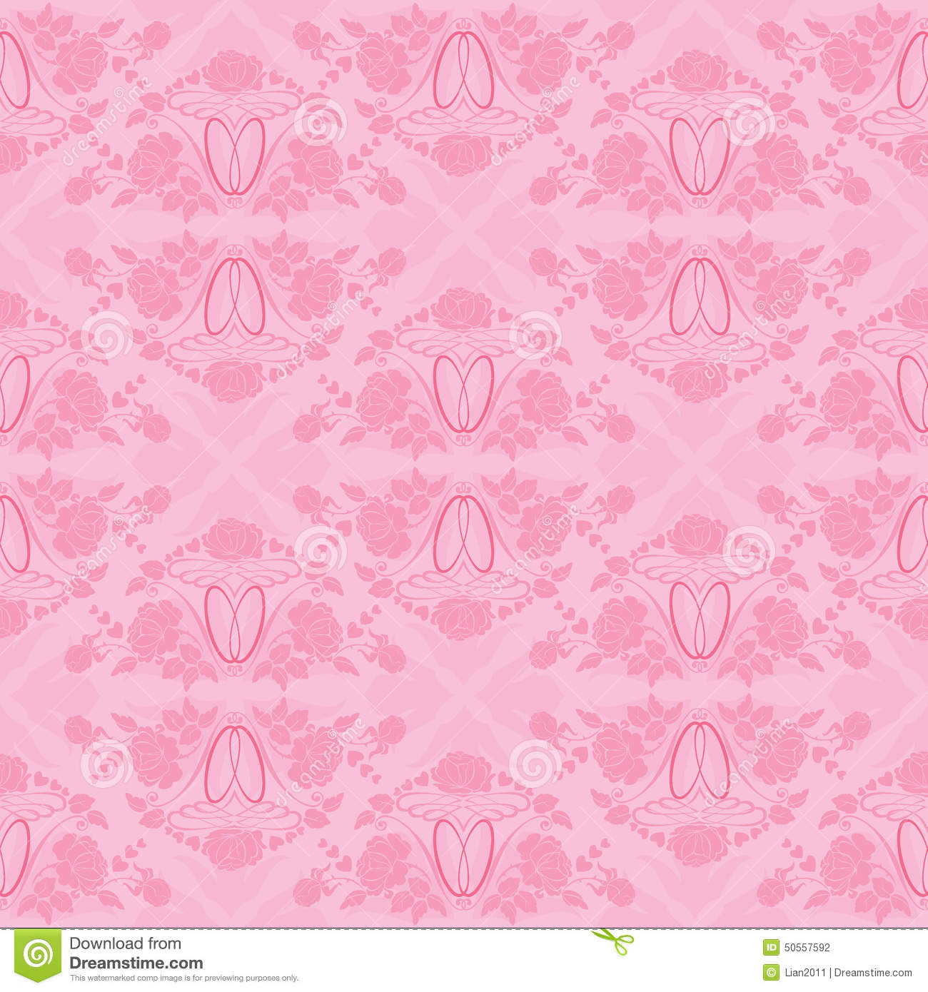 Wedding Seamless Pattern - Floral Ornament With Wedding Rings Stock ...