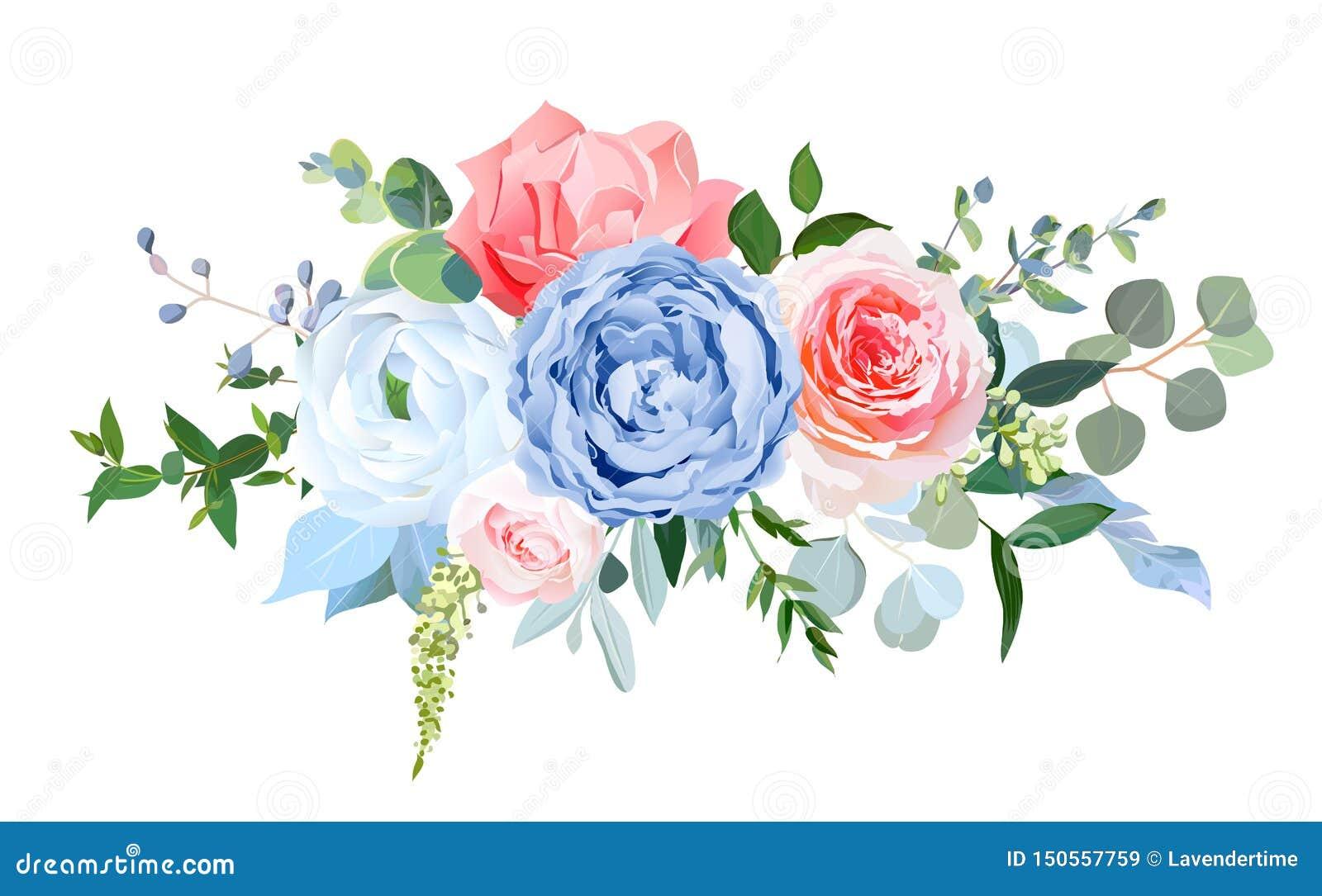 Wedding Seasonal Flowers Floral Composition Stock Vector Illustration Of Elegant Border 150557759