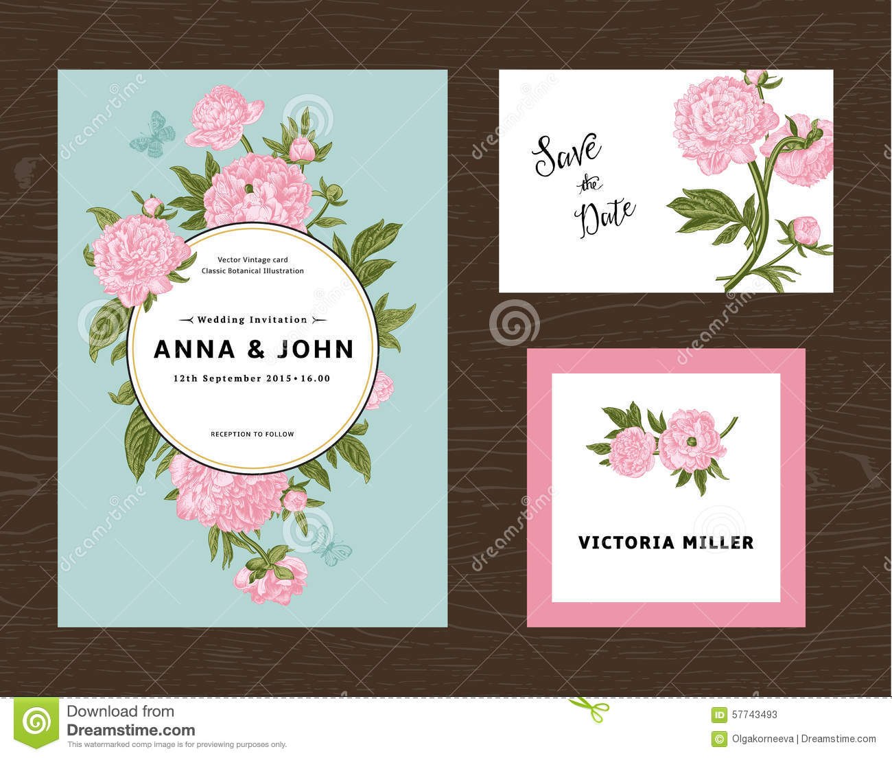 Wedding set menu save the date guest card stock vector download comp mightylinksfo