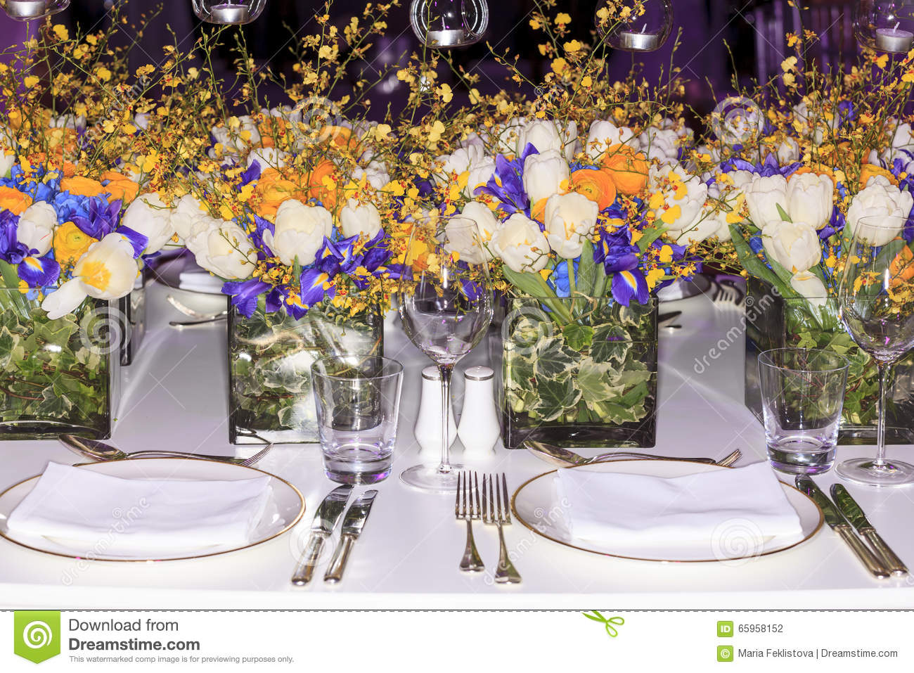 Wedding Set up Stock Photo Image Of Arrangement Blooming