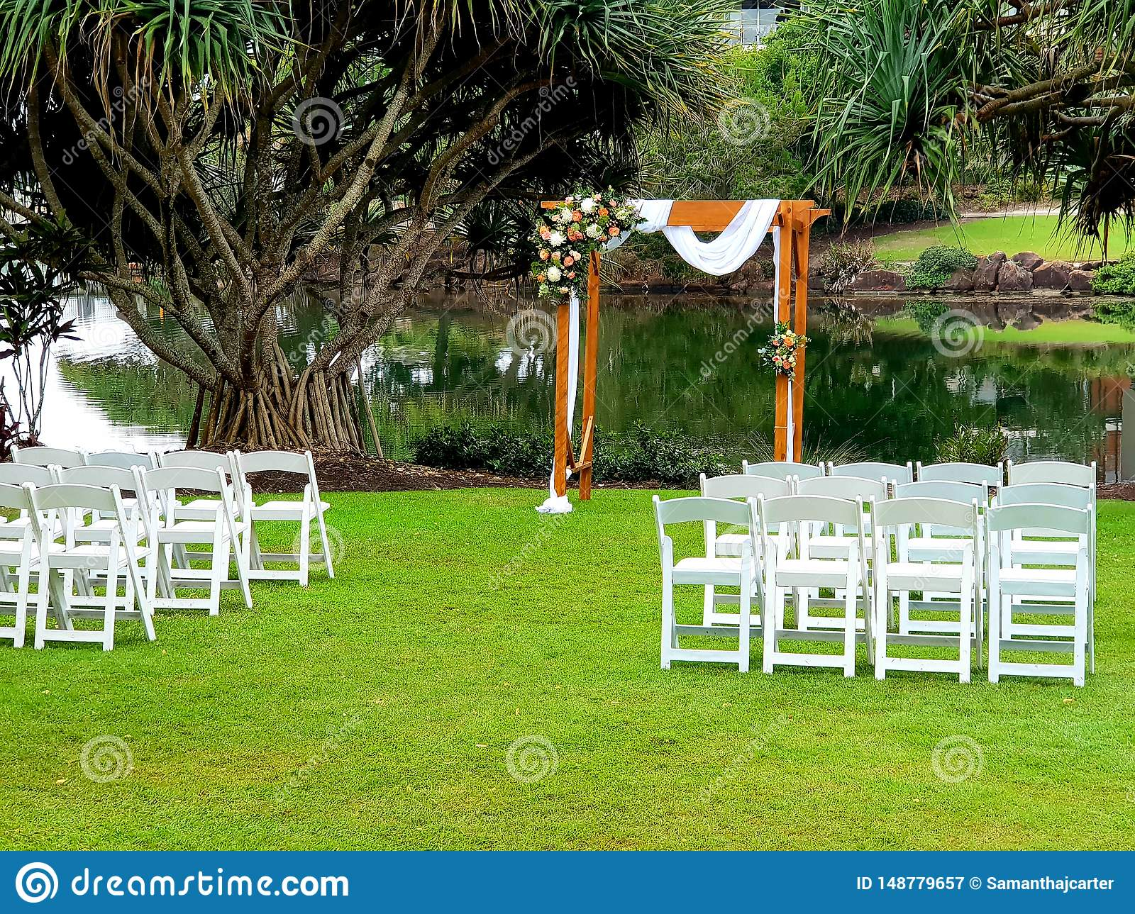 Wedding Setup Stock Image Image Of Arbour Setup Resort